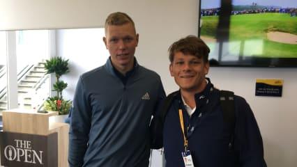 Matthias Schmid im Interview mit Golf Post vor der British Open 2019. (Foto: Golf Post)