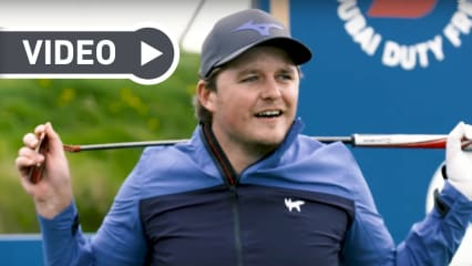 Eddie Pepperell tritt gegen Ryan Fox bei der 14 Club Challenge an. (Screenshot: Youtube.com/EuropeanTour)