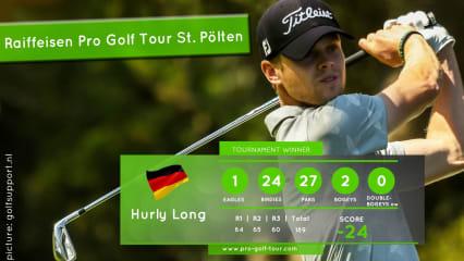 Hurly Long gewinnt auf der Pro Golf Tour in St. Pölten. (Foto: golfsupport.nl)