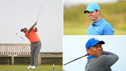 Jon Rahm gelingt ein exzellenter Start in die British Open 2019 während Rory McIlroy und Tiger Woods mächtig straucheln. (Foto: Getty)