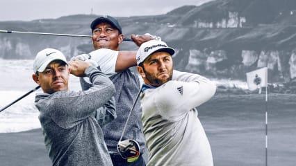 Rory McIlroy, Tiger Woods und Jon Rahm gehören sicherlich zum engen Favoritenkreis für die British Open 2019. (Foto: Getty)