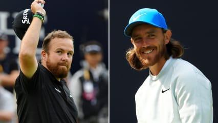 Shane Lowry (links) geht als Führender in die Finalrunde der British Open 2019, Tommy Fleetwood als Zweitplatzierter. (Foto: Getty)