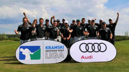 Bild 1 - Herren Süd: Stark gekämpft: Team St. Leon-Rot gewinnt den vierten Spieltag und schiebt sich auf den 2. Tabellenplatz vor. (Foto: DGV/Kirmaier)