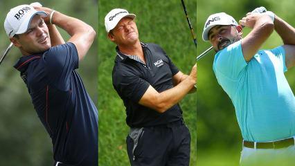 Martin Kaymer (l.), Alex Cejka (mitte) und Stephan Jäger auf der PGA Tour. (Foto: Getty)