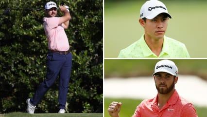 Stephan Jäger (links) spielt solide während Collin Morikawa (oben) und Matthew Wolff (unten) Chancen auf ihren ersten PGA-Tour-Titel haben. (Foto: Getty)