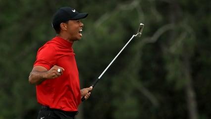 """Tiger Woods von Masters-Trophäe im """"Briefkasten"""" überrascht"""