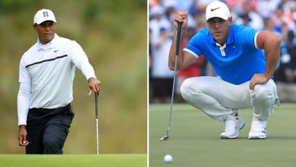 Tiger Woods und Brooks Koepka starten früh in die erste Runde der Northern Trust Open. (Bildquelle: Getty)