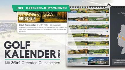 Genießen und Spielen: Der neue Golfkalender mit 2für1 Greenfee-Gutscheinen