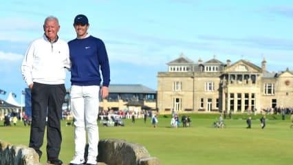 Rory McIlroy mit seinem Vater bei der Alfred Dunhill Championship 2019 auf der European Tour. (Foto: Getty)