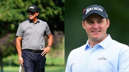 Phil Mickelson und Sepp Straka bei der Safeway Open 2019 der PGA Tour. (Foto: Getty)