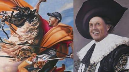 Dieser Künstler bannt Phil Mickelson und Tiger Woods auf Leinwand