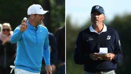 Der eine führt, der andere verabschiedet sich vorzeitig: Paul Casey und Matt Kuchar. (Foto: Getty)