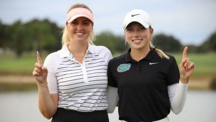 Olivia Cowan (l.) zieht als Co-Siegerin in das Finale der Qualifying School der LPGA Tour ein. (Foto: Fred Weston)