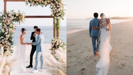 Strandhochzeit: Rickie Fowler heiratet Allison Stokke - in Pumas?