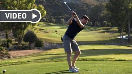 Lukas Eisinger von Birdietrain hilft Ihnen beim Golftraining. (Foto: Screenshot YouTube)