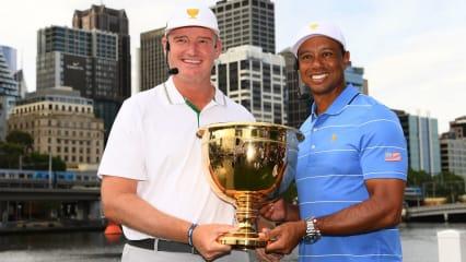 Der Presidents Cup 2019 steht in den Startlöchern. Hier die beiden Kapitäne Ernie Els und Tiger Woods. (Foto: Getty)