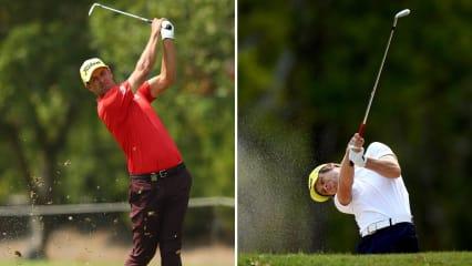 Adam Scott und Hurly Long auf der zweiten Runde der Australien PGA Championship. (Foto: Getty)
