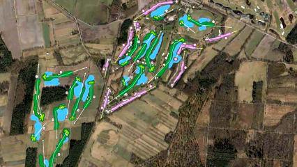 Planspiele: Die Erweiterung der Green Eagle Golf Courses um den West Course auf Papier. (Foto: Michael Blesch/Green Eagle Golf Courses)