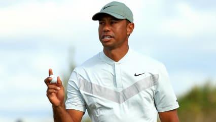 Tiger Woods spielt grandioses Golf unter der Sonne der Bahamas und klettert auf dem Leaderboard nach oben. (Foto: Getty)