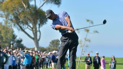 Tiger Woods in der ersten Runde der Farmers Insurance Open 2020 der PGA Tour. (Foto: Getty)