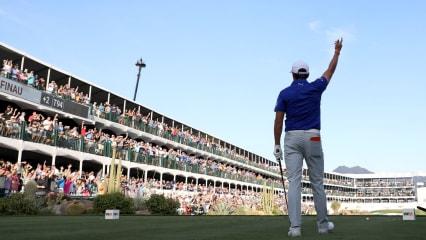 Die 16 des TPC Scottsdale - die Party-Meile der PGA Tour