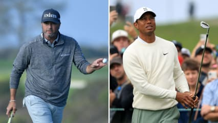 Ryan Palmer und Tiger Woods bei der Farmers Insurance Open 2020. (Foto: Getty)