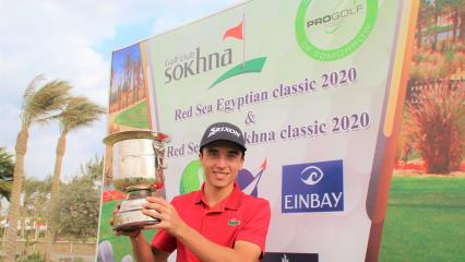 Der Franzose Jean Bekirian hat sich in Ägypten den Titel des zweiten Saisonturniers der Pro Golf Tour 2020 gesichert. (Foto: Pro Golf Tour)
