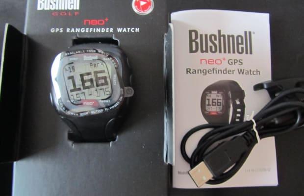 BUSHNELL NEO+ GPS Rangefinder watch -25 000 gespeicherte Golfkurse-neuwertig