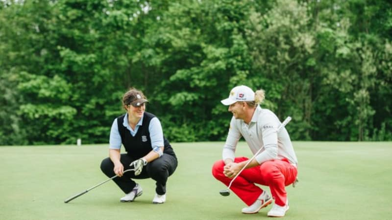 Golf: Mercedes-Benz AWGC Medienaktion mit Marcel Siem 14.05.2015