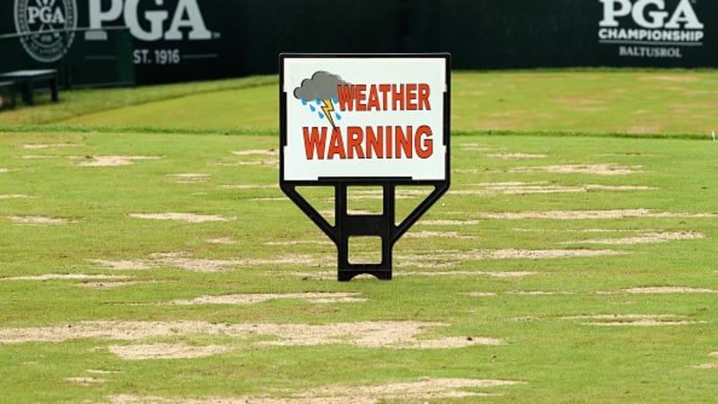 Tag 3 der PGA Championship gibt ein traurig-nasses Bild ab