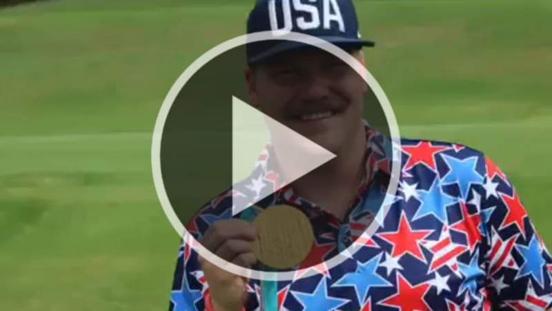 Video: Goldrausch - Olympiasieger nutzt Goldmedaille als Ballmarker