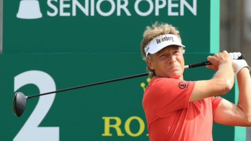 Senior Open Championship: Bernhard Langer auf dem geteilten zweiten Platz