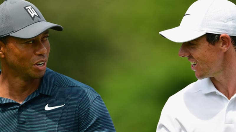 PGA Tour: Tiger Woods und Rory McIlroy erstmals als Führungsduo