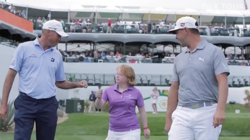Eine Golferin mit Down-Syndrom wird zum Star auf Loch 16 der Phoenix Open