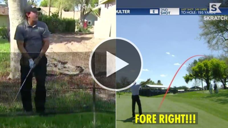 """""""FORE RIGHT!"""": Auch bei den Profis auf der PGA Tour klappt nicht immer alles"""