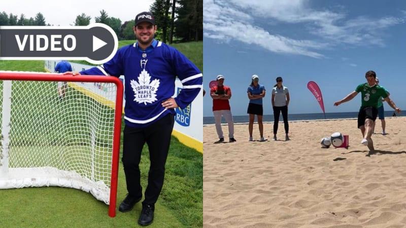 Video: Golfer im Sportfieber - Die Fußball- und Hockey Challenge der Touren