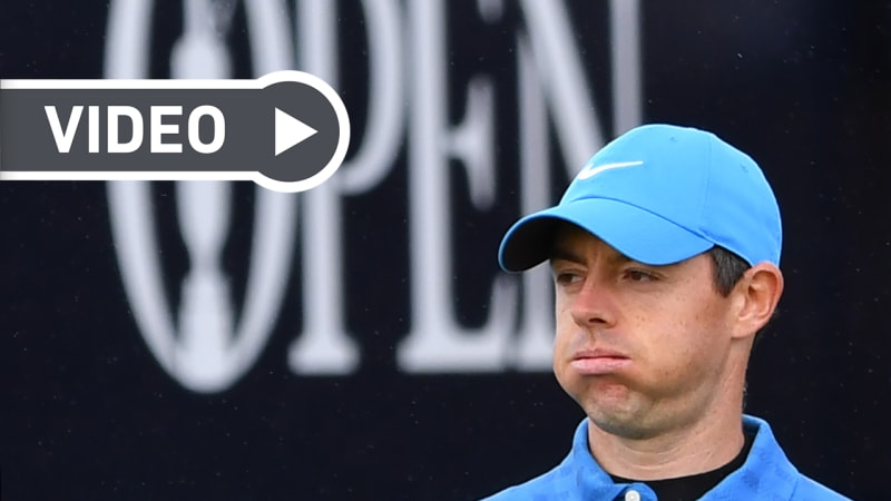 Video: Rory McIlroys katastrophaler Auftakt in die British Open 2019
