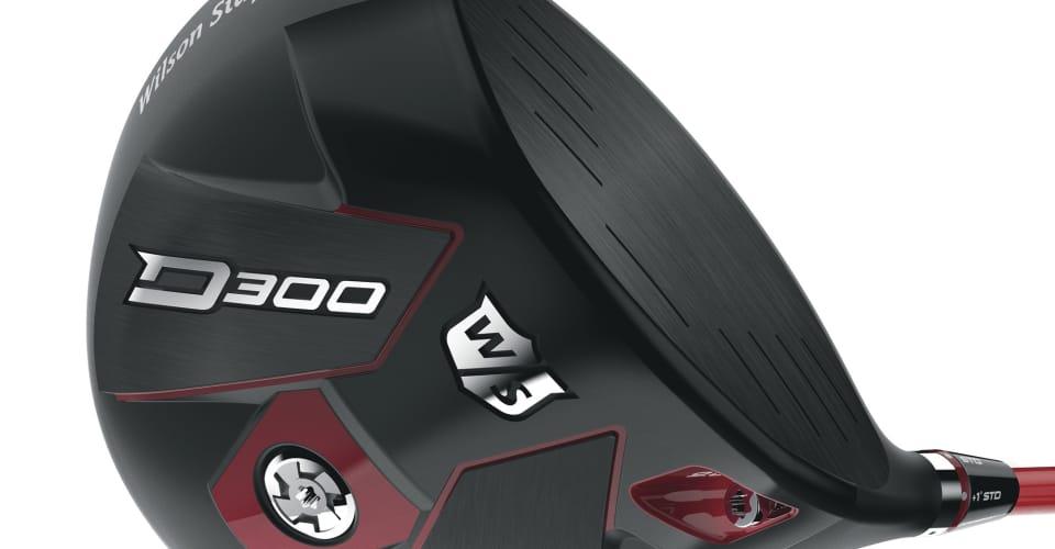 Der Wilson Staff D300 Driver kommt in den typischen Wilson-Farben daher. Schwarzer Kopf mit roten Elementen samt rotem Schaft. (Foto: Wilson Staff)