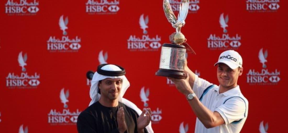 <h2>Rekordsieger Martin Kaymer</h2> Einem gefällt der Pokal sicherlich besonders gut. Martin Kaymer reckte bereits dreimal die Trophäe mit dem Falken in den Himmel (2008, 2010 und 2011) - bislang ein unerreichter Bestwert.<br> (Foto: Getty)
