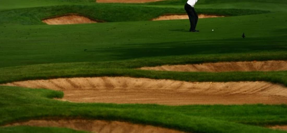Zum 26. Mal findet die Canadian Open im Glen Abbey Golf Club statt. Hier das 17. Loch mit seinen Bunkern. (Foto: Getty)