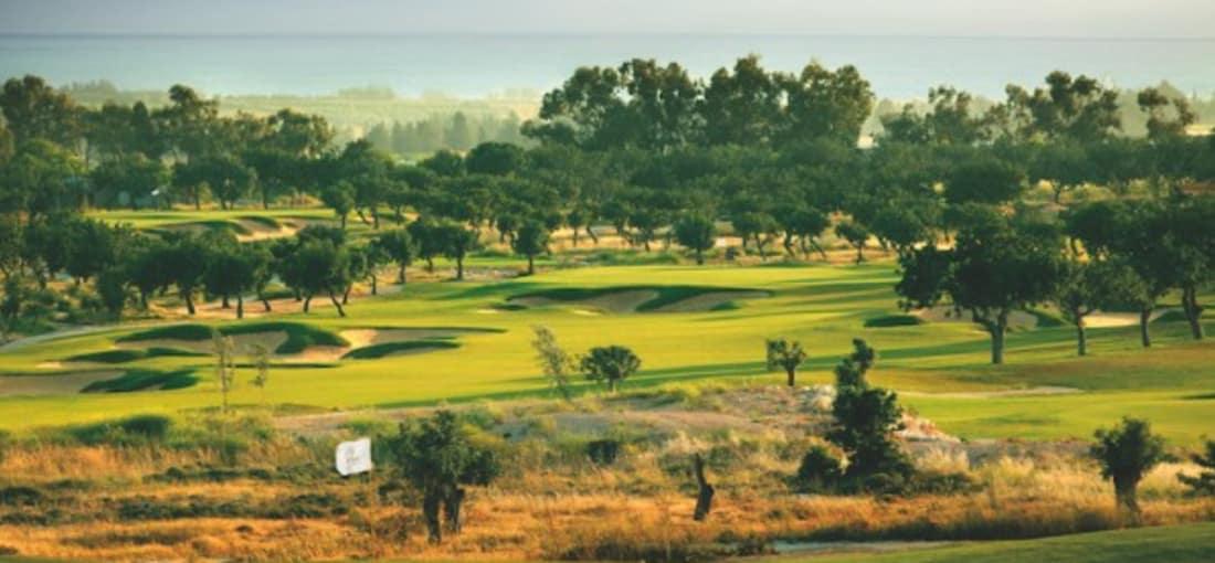 Der Golfplatz des Eléa Golf Club windet sich durch alte Johannisbrot- und Olivenbaumbestände. (Foto: Eléa Golf Club)