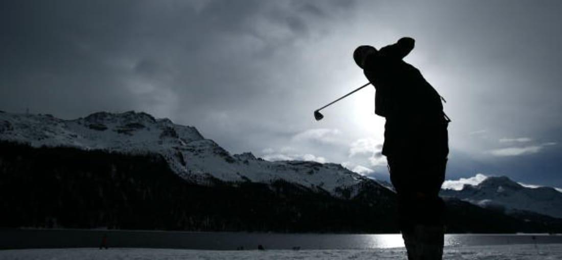 <h2>Snow Golf Championship</h2> 2008 wurden in St. Moritz neun Löcher gespielt. Es gab eine Amateur- sowie eine Celebrityrunde. (Foto: Getty)