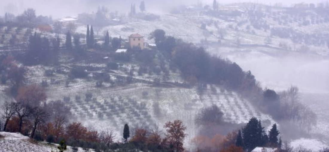 Die Toskana von Schnee bedeckt. (Foto: Getty)