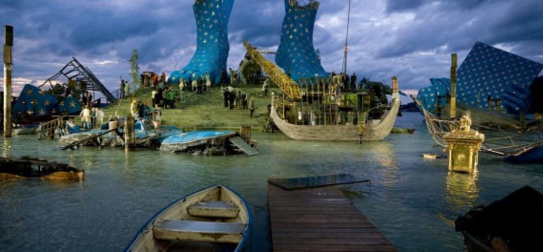 """<h2>Kunst am Bodensee</h2>Aufführung von Verdis monumentalen Meisterwerk """"Aida"""" auf der Seebühne von Bregenz. (Foto: Getty)"""