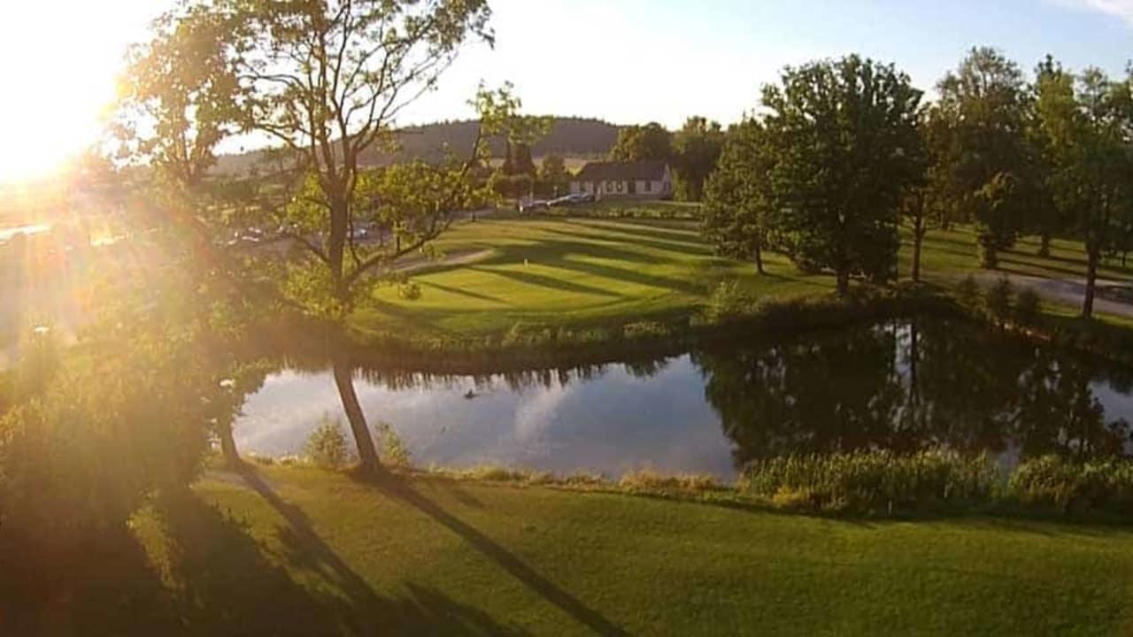 Das 18. Grün des Golfpark Rothenburg-Schönbronn. (Foto: 500% Golf)