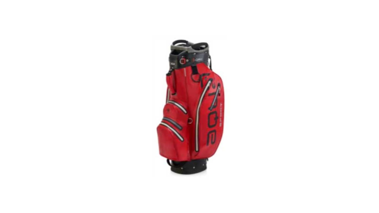 Das neue Cartbag von Big Max Golf in der Farbe rot. (Foto: Big Max Golf)