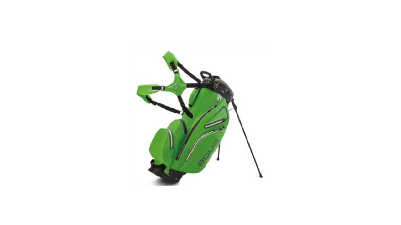 Das neue Aqua Hybrid Golfbag in der Farbe grün. (Foto: Big Max Golf)