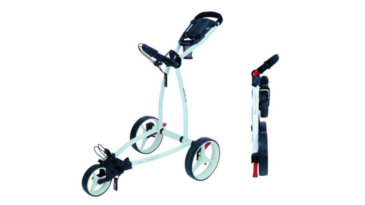 Der Blade IP Golftrolley ist in unterschiedlichen Farbkombinationen erhältlich. (Foto: Big Max Golf)