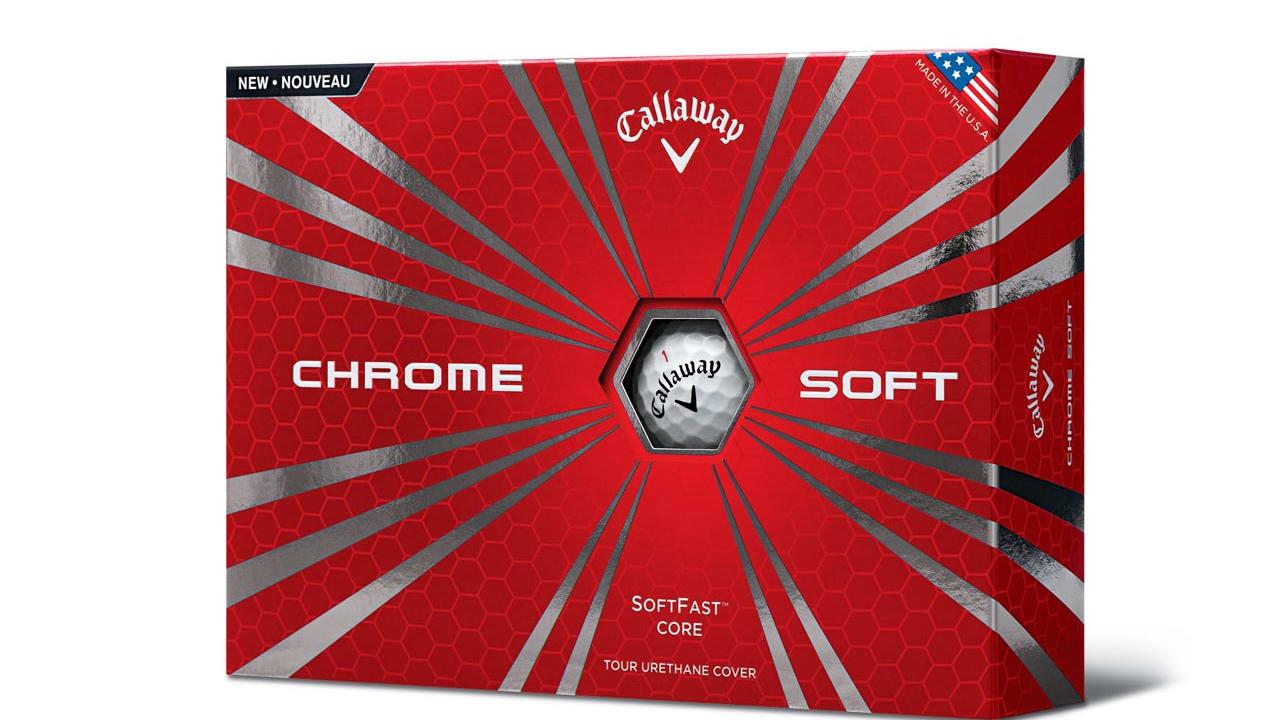 12er Packung der neuen Callaway Chrome Soft Golfbälle.