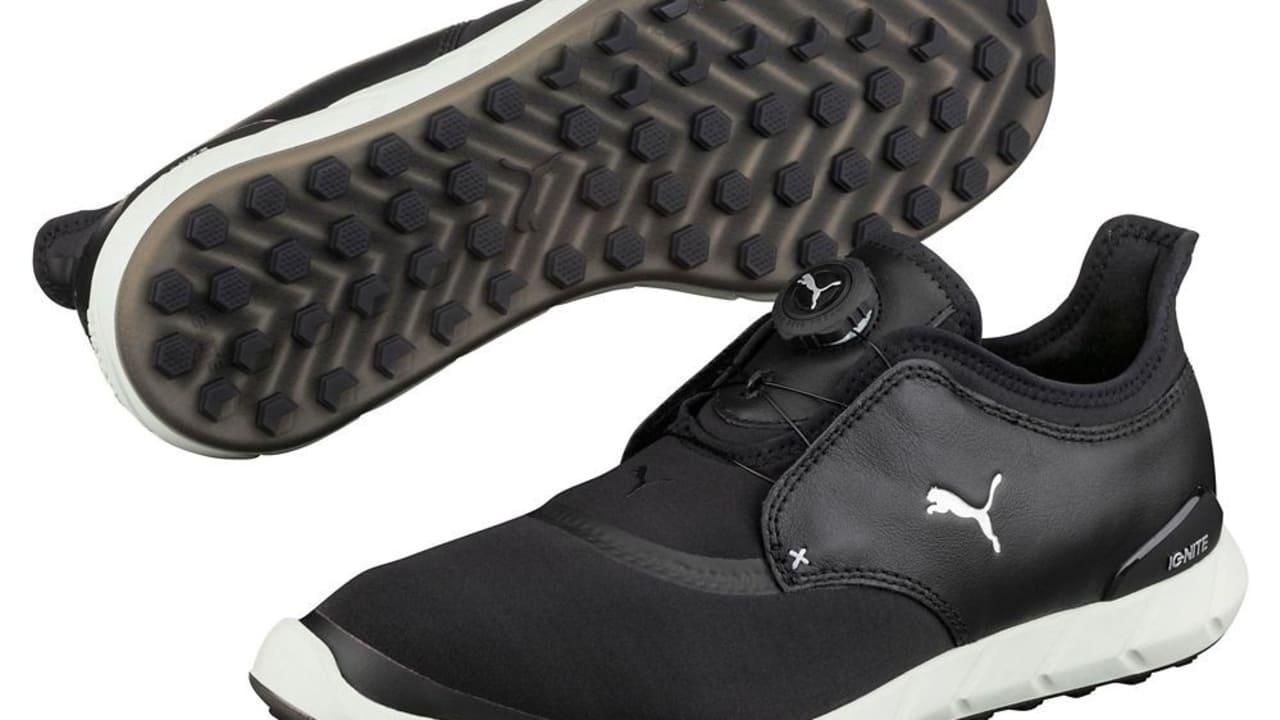 Die Schuhe wurden in der Saison 2016 bereits von Bryson DeChambeau gespielt und es bleibt abzuwarten, ob der Senkrechtstarter in der Saison 2017 auch die Disc-Version ins Spiel bringt. (Foto: Puma Golf)